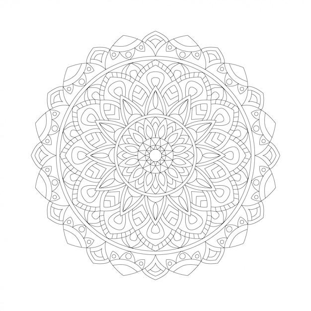 Абстрактный дизайн черный белый элемент. круглая мандала в векторе. графический шаблон для вашего дизайна. круговой узор Premium векторы