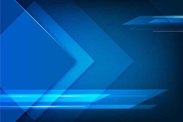 Abstract design blue futuristic background Free Vector