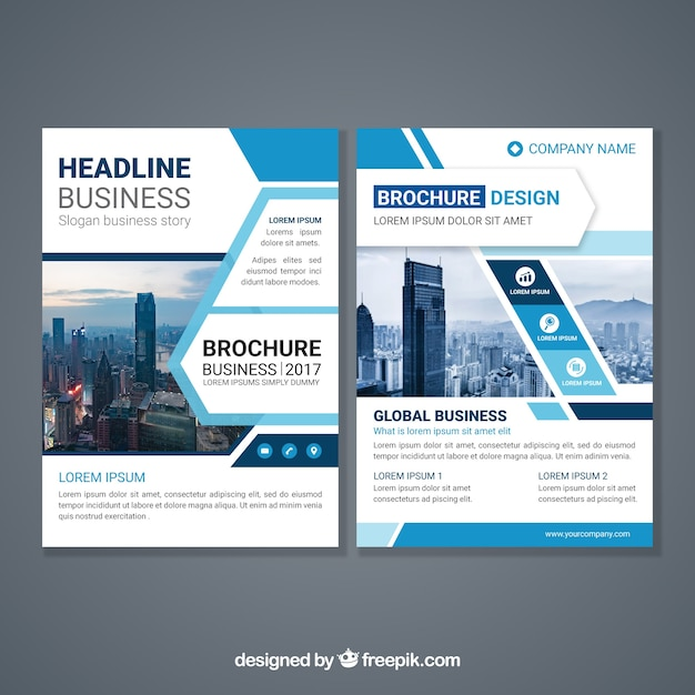 Abstract design brochure template vector free download for Free templates for catalogue design