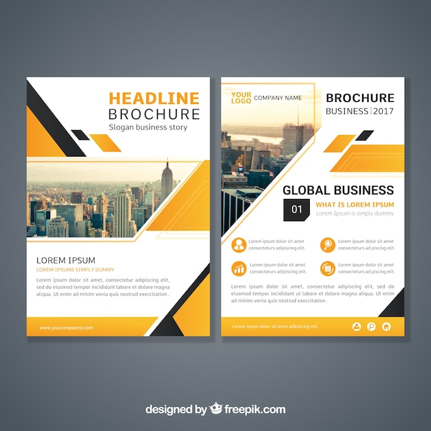 Abstract design brochure template Free Vector
