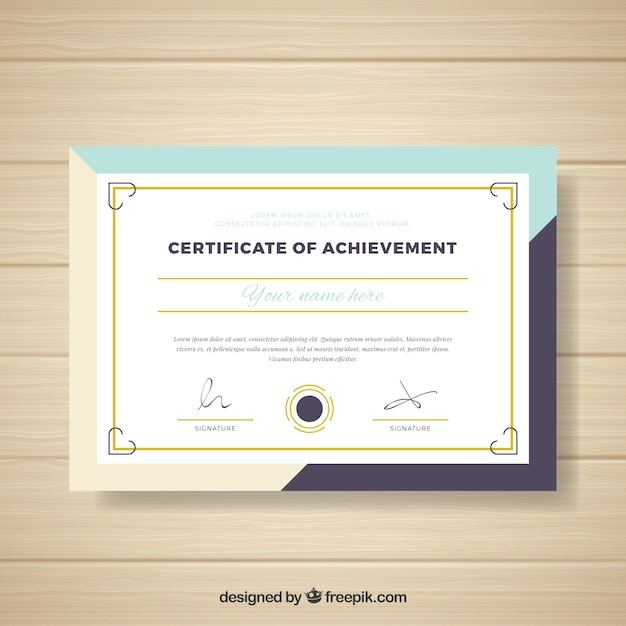 Abstract design certificate Free Vector