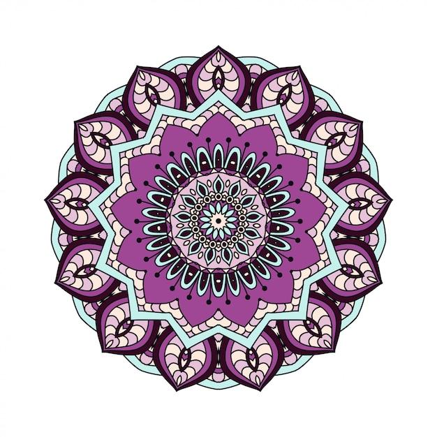 Абстрактные элементы дизайна. круглые мандалы в векторе. графический шаблон для вашего дизайна. декоративный ретро орнамент Premium векторы