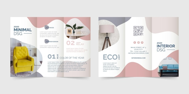 Abstract design trifold brochure template Premium Vector