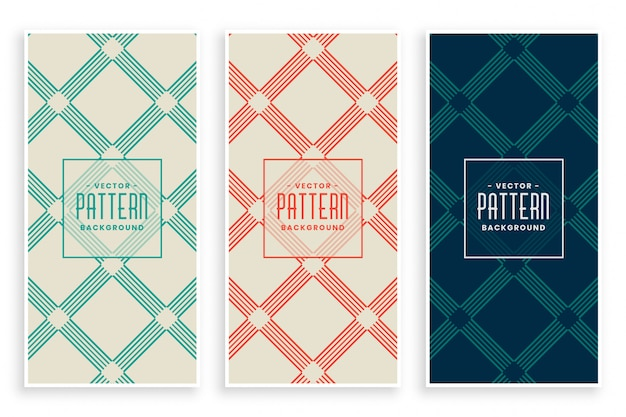 Abstract diagonal lines geometric pattern set Free Vector