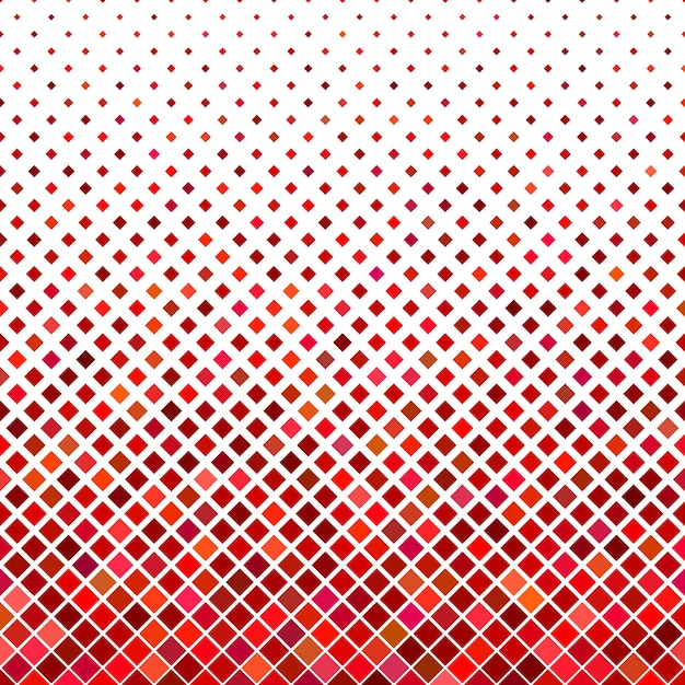 Abstract diagonal square pattern background - geometric vector graphic from squares in red tones Free Vector