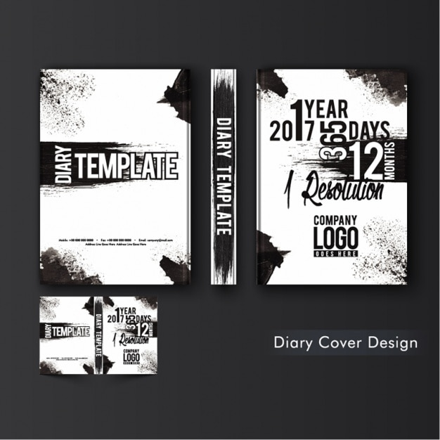 Abstract Diary Cover Template Premium Vector