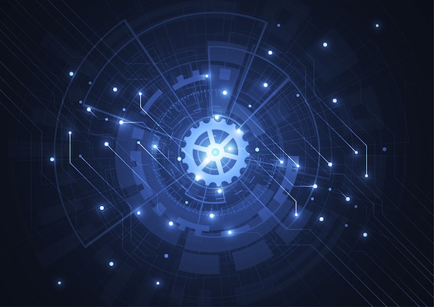 Abstract digital background with technology circuit board texture Premium Vector