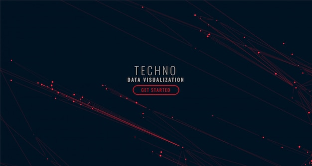 Abstract digital big data visualization background Free Vector