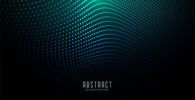 輝く光と抽象的なデジタル粒子の背景 無料ベクター