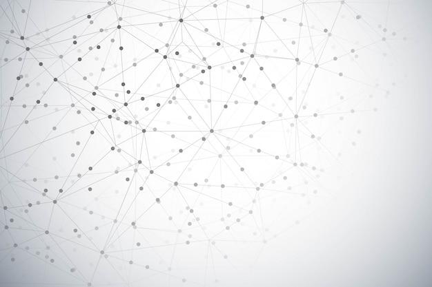 Абстрактный фон цифровой технологии многоугольника Бесплатные векторы