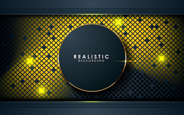 Abstract dimension texture with golden lights Premium Vector