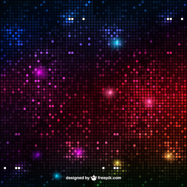 Abstract disco lights background Free Vector