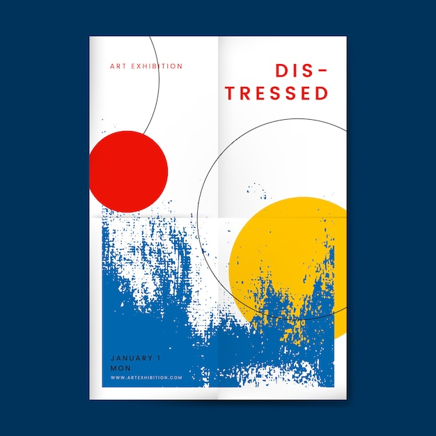 Abstract distressed design poster Free Vector