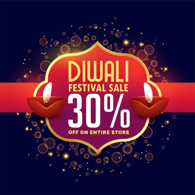 Abstract diwali sale background with offer details Free Vector