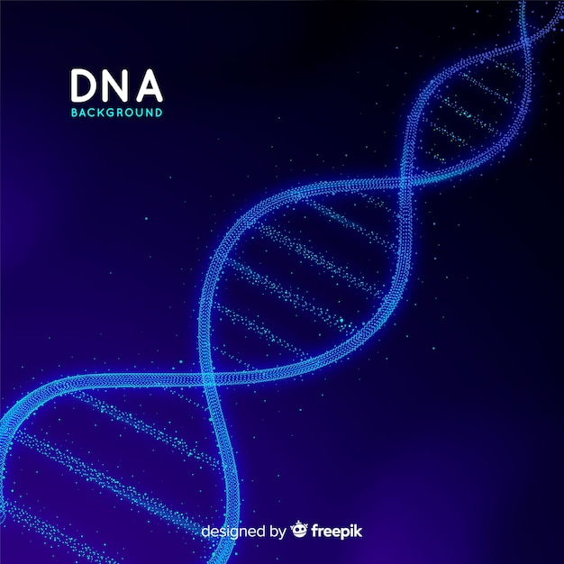 Abstract dna background Free Vector