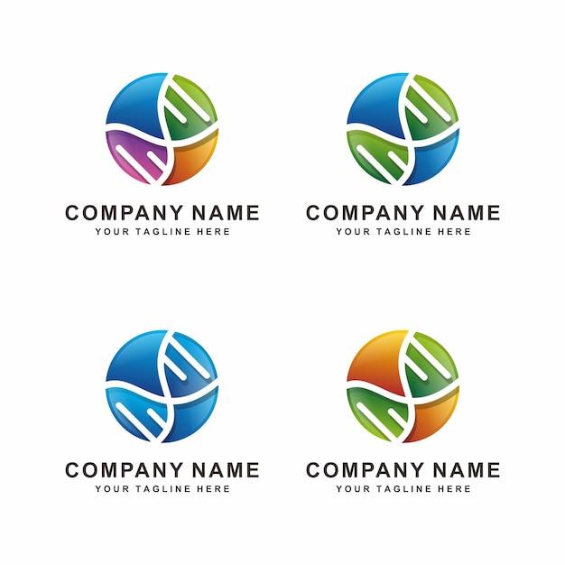 Abstract dna logo design Premium Vector