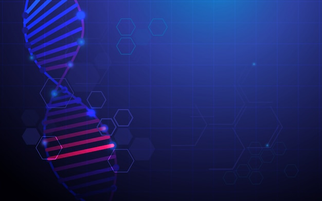 Abstract dna structure background Premium Vector