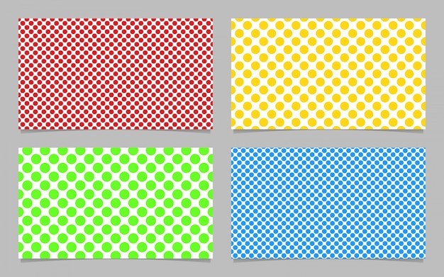 abstract dot pattern business card background template design set