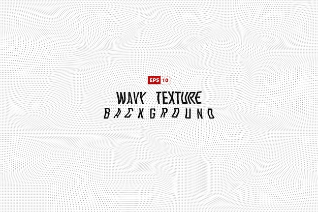 Abstract dot wavy pattern decoration background. Premium Vector