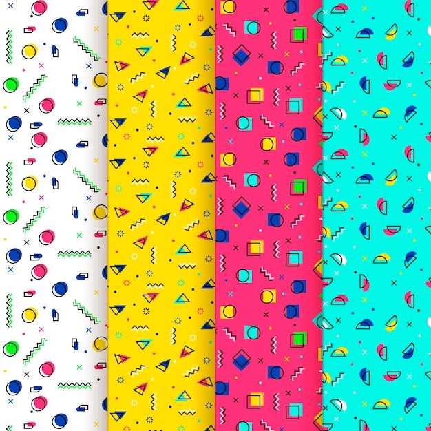 Абстрактные точки и формы мемфиса бесшовные модели Бесплатные векторы