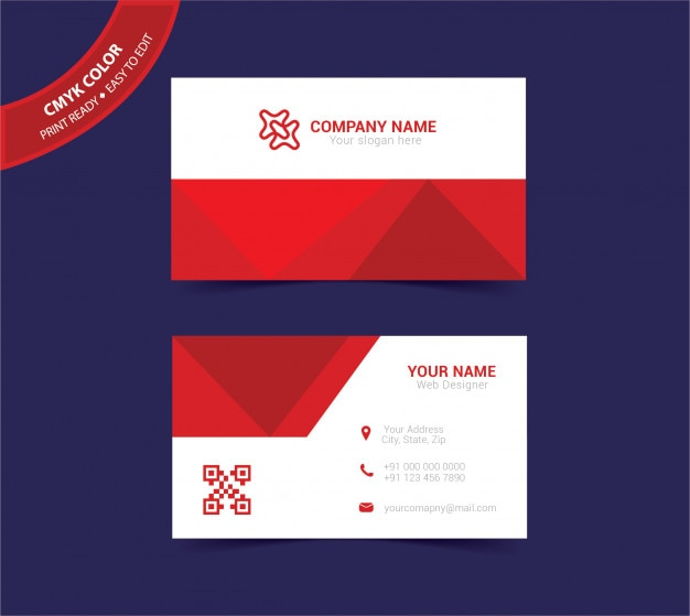Abstract doublesided business card template vector premium download abstract doublesided business card template premium vector fbccfo