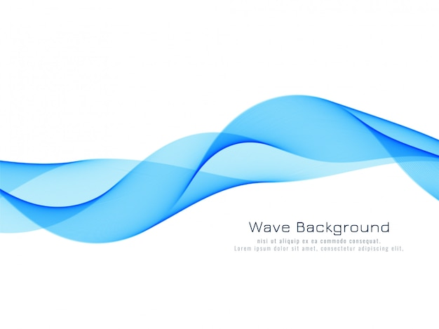 Abstract dynamic blue wave background Free Vector