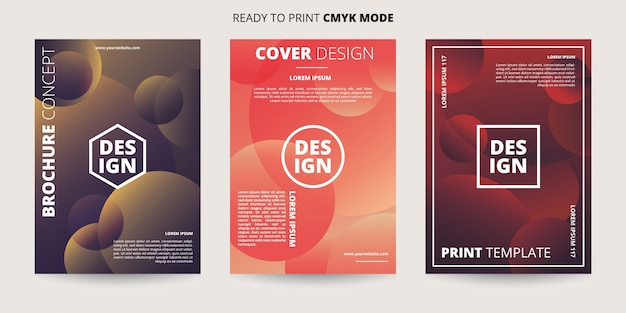 Abstract dynamic circle banner template Premium Vector