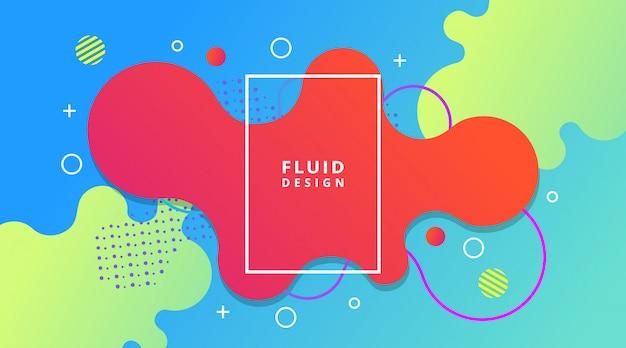Premium Vector Abstract Dynamic Modern Fluid Liquid Gradient Background