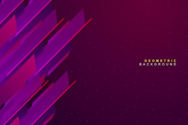 Abstract dynamic modern vibrant geometric background Premium Vector