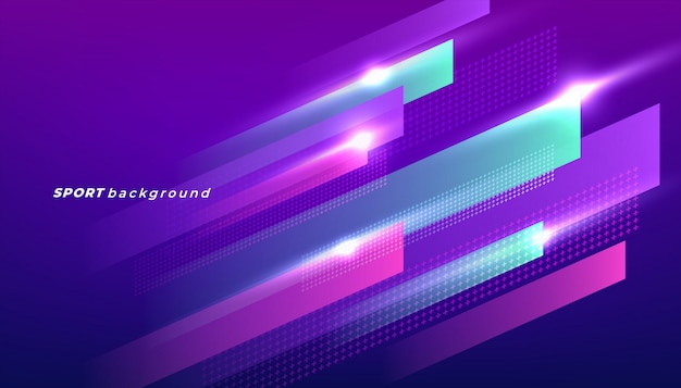 Abstract dynamic shapes background for sport event. Premium Vector