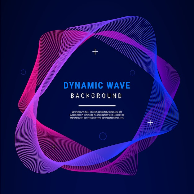 Abstract dynamic wave gradient background Free Vector