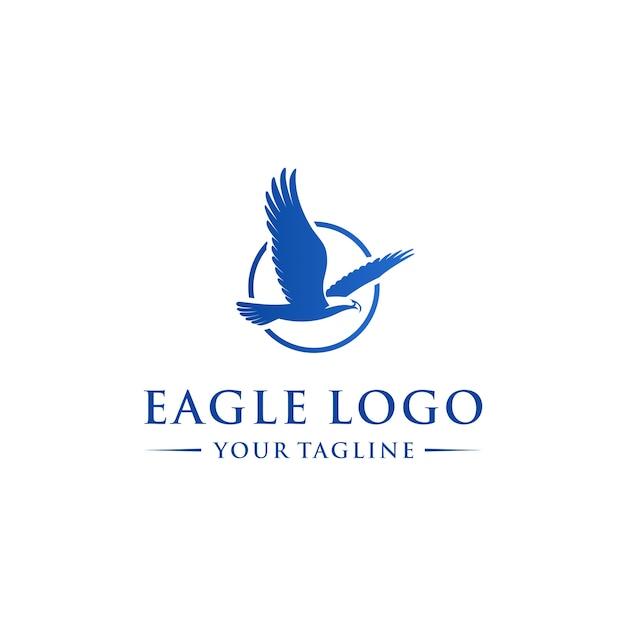 抽象的なワシ飛行ロゴのテンプレート Premiumベクター