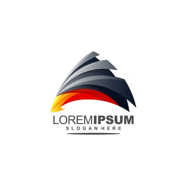 Abstract eagle logo premium with triangle Premium Vector