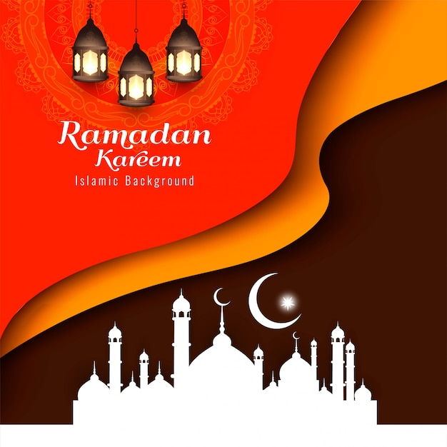 Abstract eid mubarak islamic religious background Free Vector