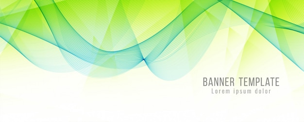 Abstract elegant banner modern template Free Vector