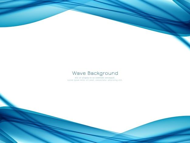 Fondo blu elegante astratto dell'onda Vettore gratuito