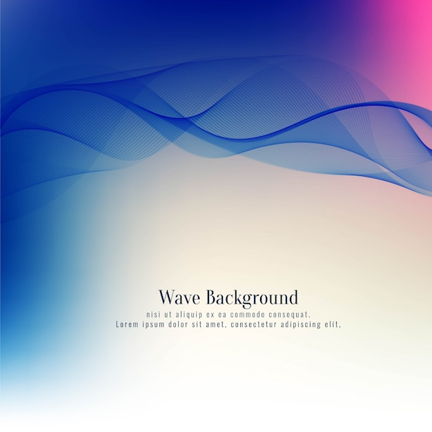 Abstract elegant blue wave decorative background Free Vector