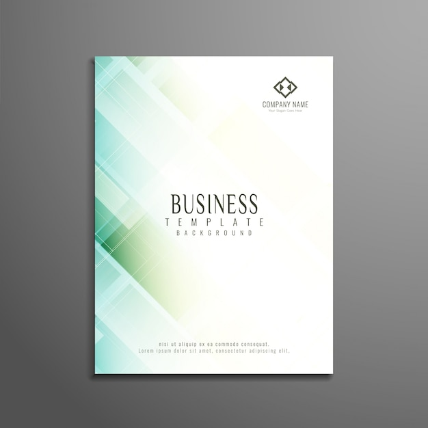 Abstract elegant geometric business brochure design Vector