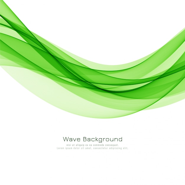Abstract Elegant Green Wave Background Vector Free Download