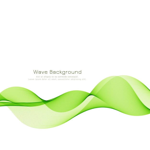 Abstract elegant green wave background Free Vector
