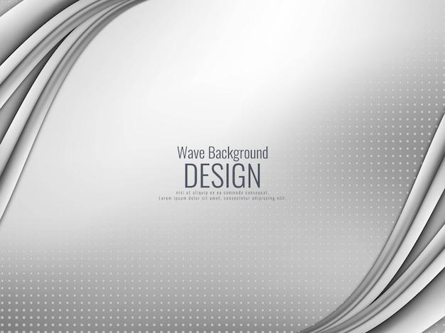 Abstract elegant grey wavy background Free Vector
