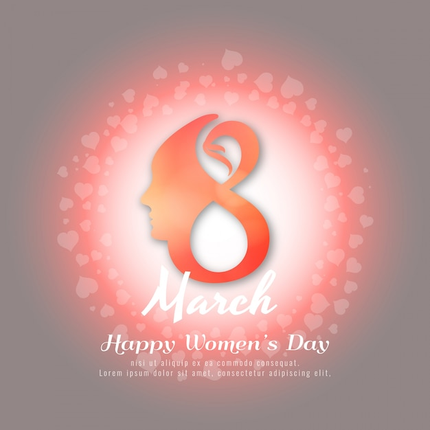 Abstract elegant Happy Women's Day background design Free Vector