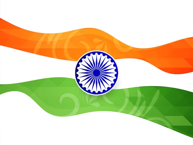 Abstract elegant indian flag theme vector background Free Vector