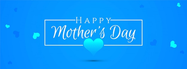 Abstract elegant mother's day blue banner design Free Vector