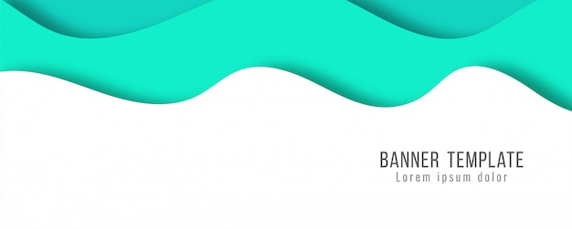Abstract elegant paper cut banner modern template Free Vector