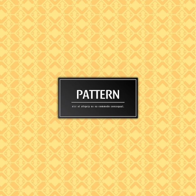 Abstract elegant pattern yellow background Free Vector