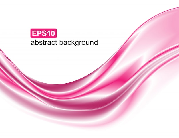 Abstract elegant pink wave motion. Premium Vector