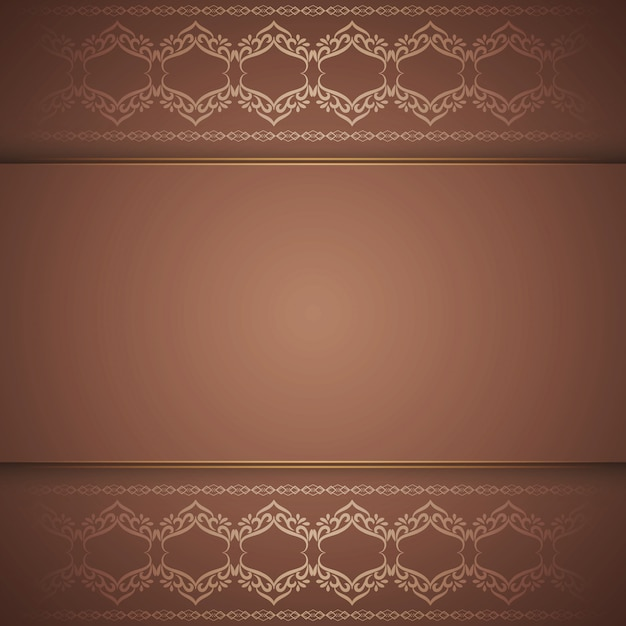 Abstract elegant royal brown background Free Vector