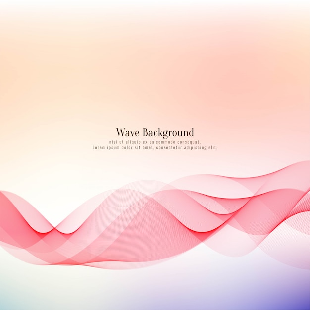 Abstract elegant wave decorative background Free Vector