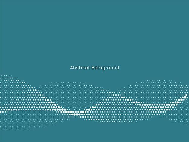 抽象的なエレガントな波状のハーフトーンの背景 無料ベクター